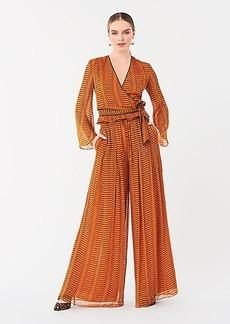 Diane Von Furstenberg Adair Crinkle Chiffon Wide-Leg Pants