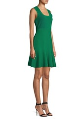 Diane Von Furstenberg Adi Rib-Knit Scallop A-Line Dress