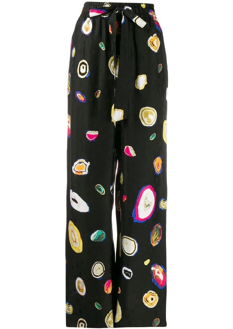 Diane Von Furstenberg Agate print trousers