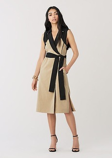 Diane Von Furstenberg Agusta Stretch-Linen Wrap Dress