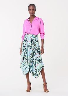 Diane Von Furstenberg Aileen Reversible Crepe Asymmetrical Midi Skirt