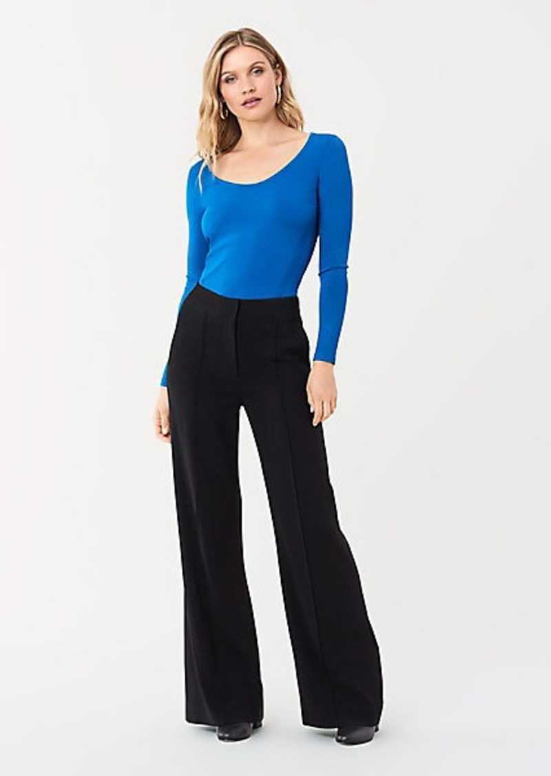 Diane Von Furstenberg Akira Stretch Milano Long-Sleeve Top