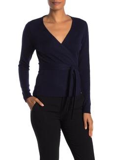 Diane Von Furstenberg Alaina Wrap Wool Blend Sweater
