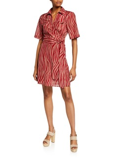 Diane Von Furstenberg Alexa Animal-Print Coverup Wrap Dress