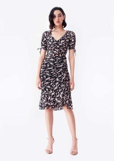 Diane Von Furstenberg Alina Mesh Skirt in Tulle Flower