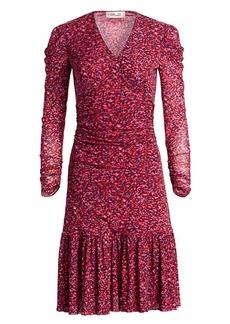 Diane Von Furstenberg Alyssa Puff-Sleeve Flounce Dress