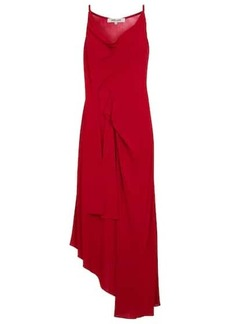 Diane Von Furstenberg Amy asymmetric jersey midi dress