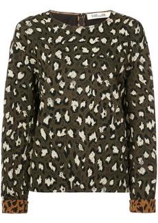 Diane Von Furstenberg animal print sweatshirt