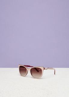 Diane Von Furstenberg Annabelle Angular Gold Trim Sunglasses