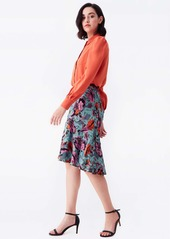 Diane Von Furstenberg Annie Silk Crepe De Chine Shirt