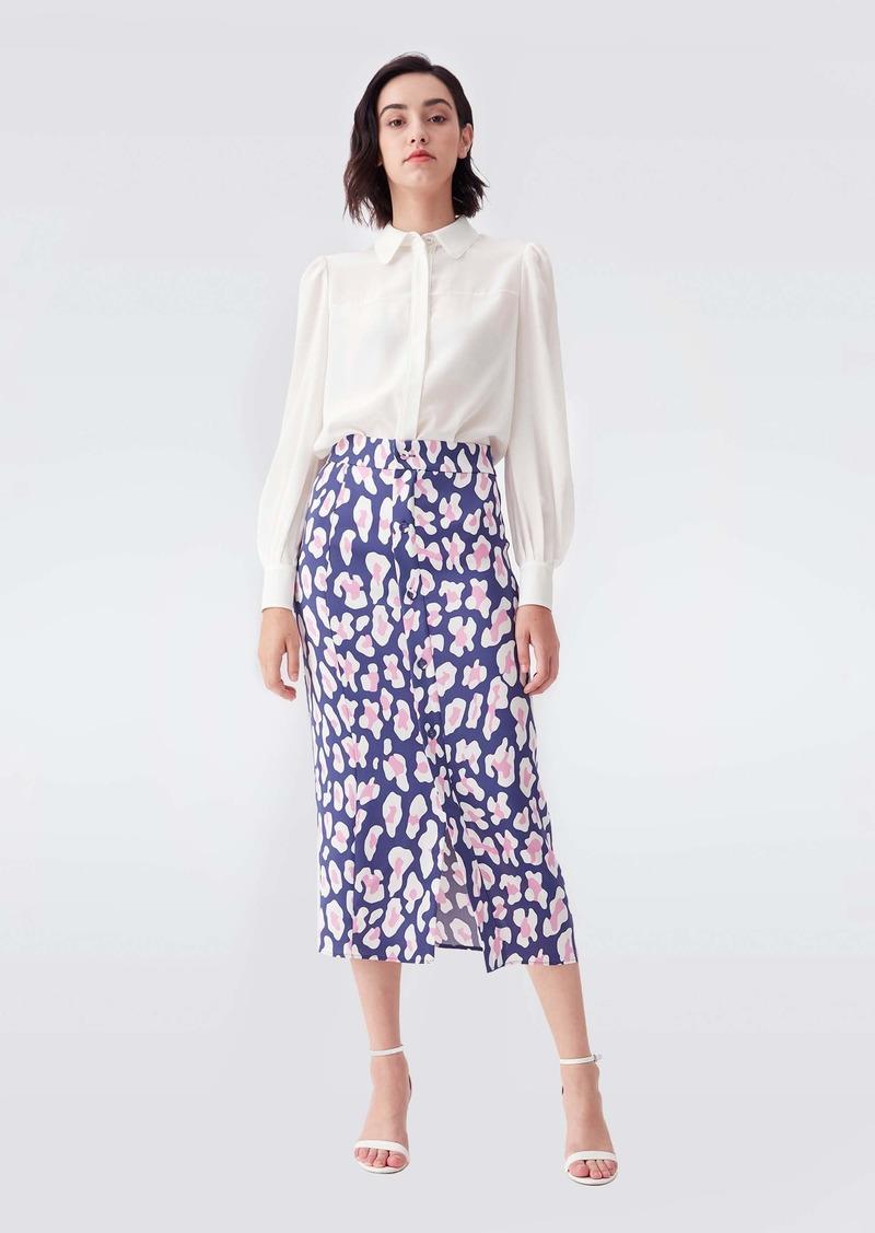 Diane Von Furstenberg Annie Two Silk Crepe De Chine Shirt