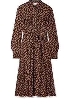 Diane Von Furstenberg Antonette Belted Paisley-print Tulle Dress