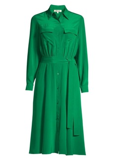 Diane Von Furstenberg Antonette Silk Shirtdress