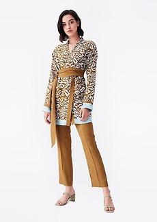 Diane Von Furstenberg April Silk Crepe de Chine Jacket