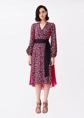Diane Von Furstenberg Ariadne Silk Crepe de Chine Wrap Dress
