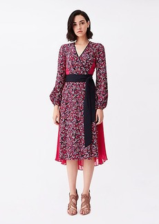 Diane Von Furstenberg Ariadne Silk Crepe de Chine Wrap Dress