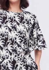 Diane Von Furstenberg Arlene Cady Top in Palm