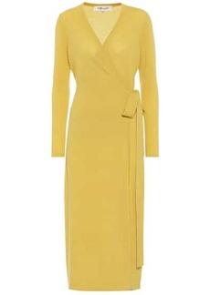 Diane Von Furstenberg Astrid wool-blend midi wrap dress