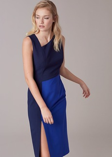 Diane Von Furstenberg Asymmetric Neck Midi Dress