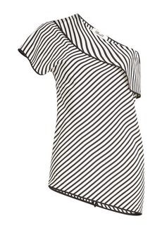 Diane Von Furstenberg Asymmetric Printed Silk Top