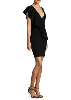 Diane Von Furstenberg Asymmetric Ruffle Sheath Dress