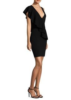 Diane Von Furstenberg Asymmetric Ruffle Sheath Dress