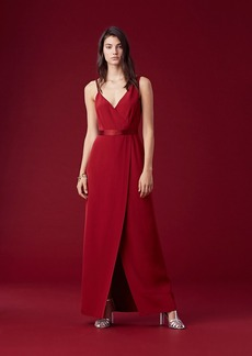 Asymmetric Side Slit Gown