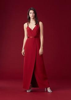 Asymmetric Side Slit Gown