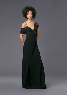 Asymmetric Sleeve Knotted Gown