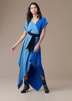 Asymmetric Sleeve Scarf Dress