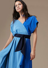 Diane Von Furstenberg Asymmetric Sleeve Scarf Dress