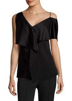 Diane Von Furstenberg Asymmetric-Sleeve Top