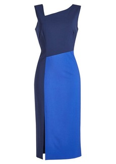 Diane Von Furstenberg Asymmetric Wool Midi Dress