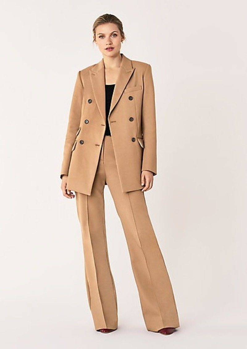 Diane Von Furstenberg Atlas Stretch Cotton Double-Breasted Blazer