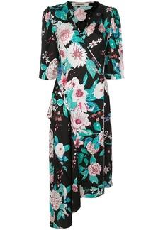 Diane Von Furstenberg Audrina asymmetrical wrap dress