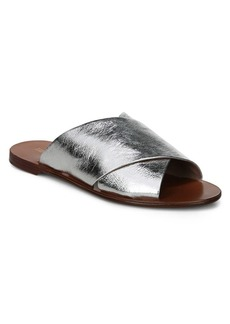 Diane Von Furstenberg Bailie Leather Slides