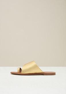 Diane Von Furstenberg Brittany Metallic Leather Sandals