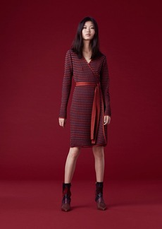 Banded Knit Wrap Dress