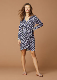 Diane Von Furstenberg Banded Collared Wrap Dress