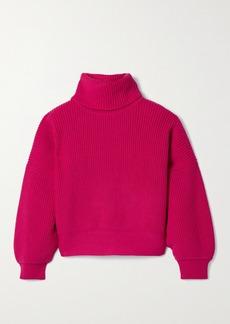 Diane Von Furstenberg Baylor Ribbed Merino Wool-blend Turtleneck Sweater