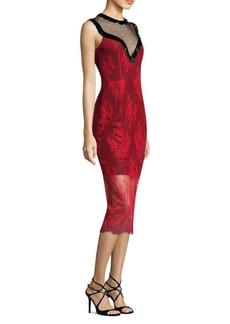 Diane Von Furstenberg Beaded Lace Bodycon Dress