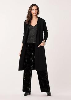 Diane Von Furstenberg Bee Merino Wool Long Cardigan