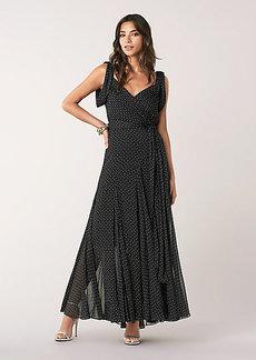 Diane Von Furstenberg Belinda Silk Chiffon Maxi Wrap Dress
