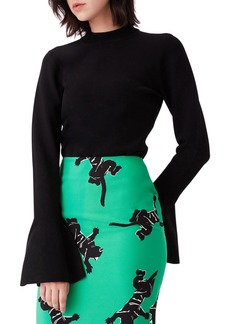 Diane Von Furstenberg Bell-Sleeve Turtleneck Pullover