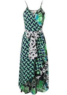 Diane Von Furstenberg belted asymmetric dress