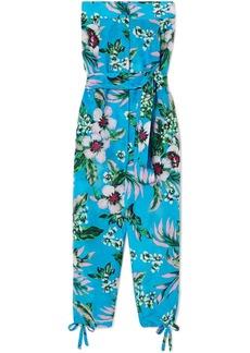 Diane Von Furstenberg Belted Floral-print Cotton And Silk-blend Jumpsuit
