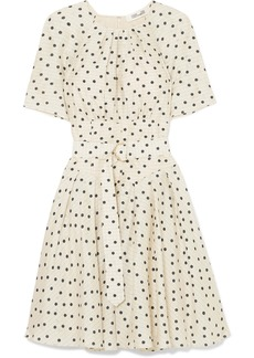 Diane Von Furstenberg Belted Polka-dot Silk Dress