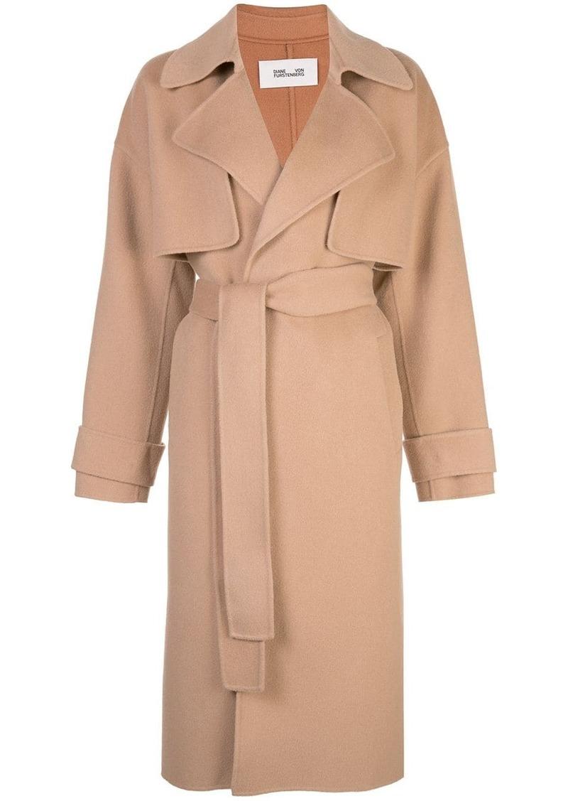 Diane Von Furstenberg Lia belted trench coat