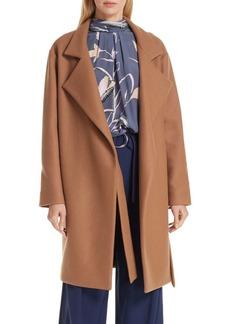 Diane Von Furstenberg Belted Wool Blend Wrap Coat