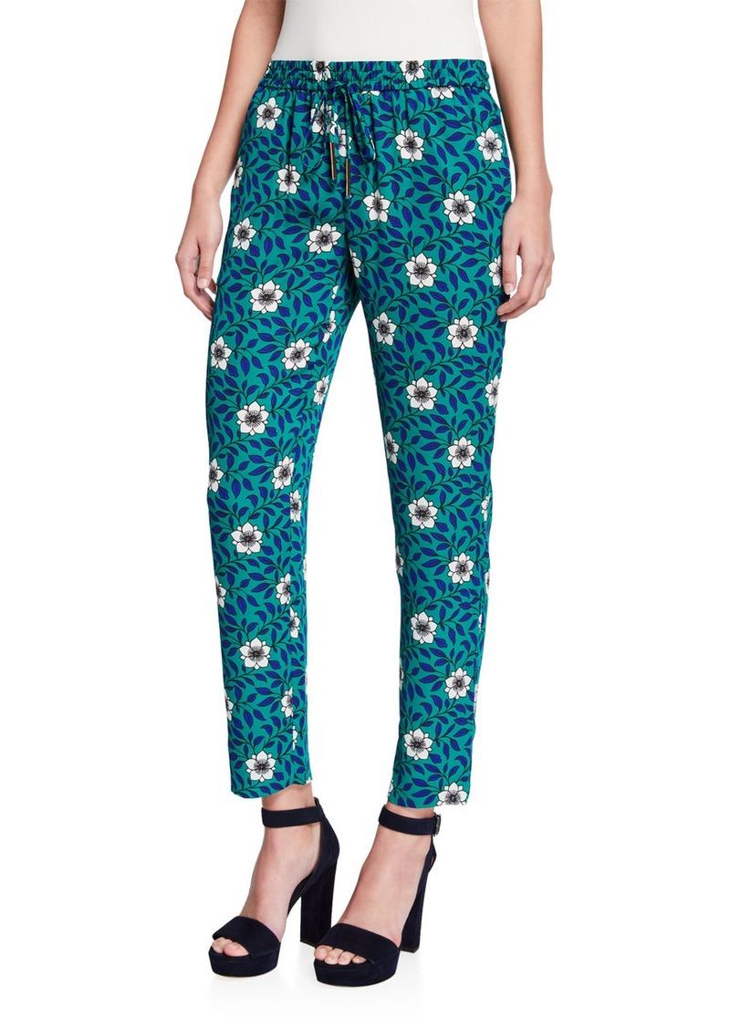 Diane Von Furstenberg Bennet Floral Drawstring Pants